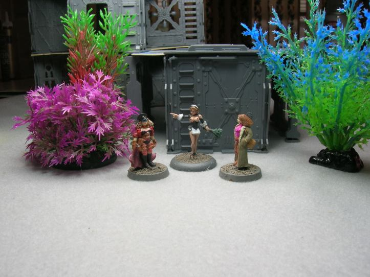 structures are from GW's Necromunda; plants are aquarium plants