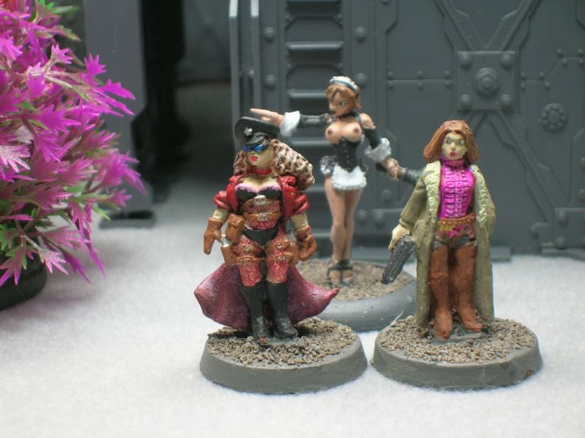 front view of miniatures