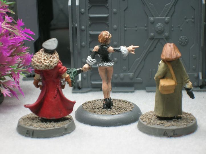 rear view of miniatures