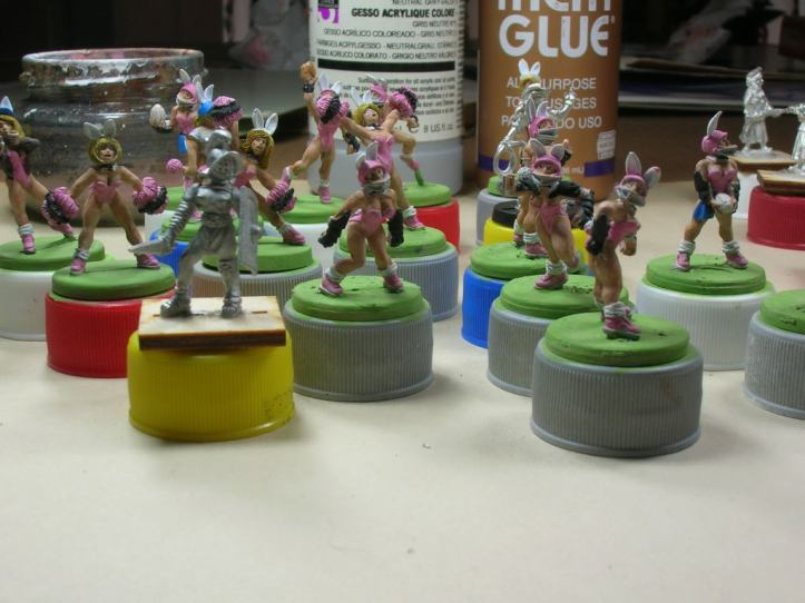There's also a gladiatrix on the paint table for future games of RSBM