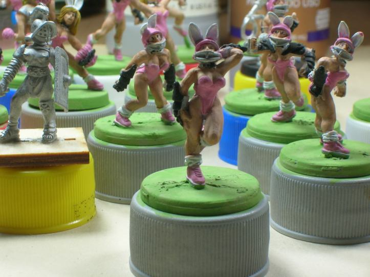 Bunny team on the paint table nearing completion
