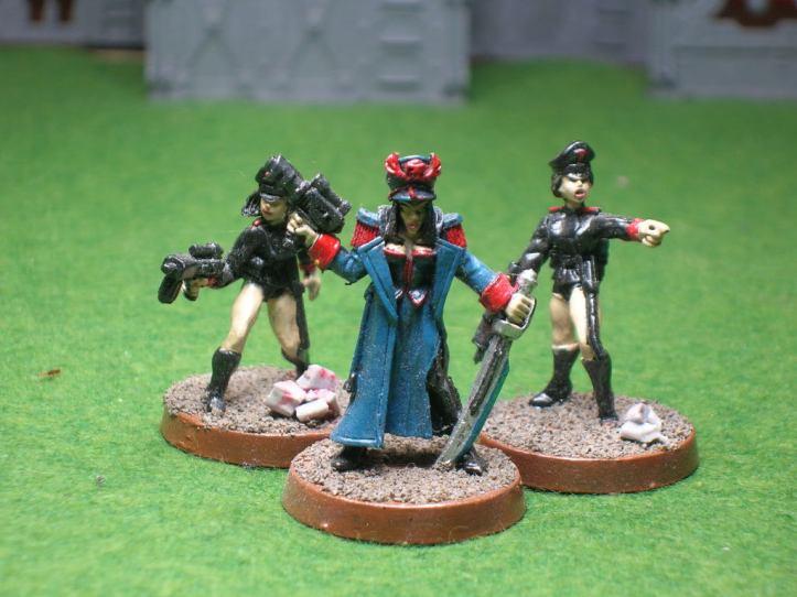 GW Female Commissar & 2 Political Officers by Shadowforge - all sadly OOP