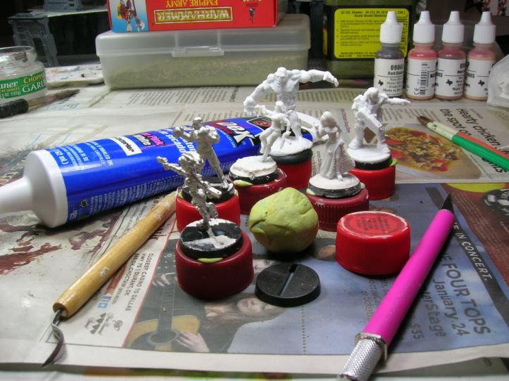 Preparing figures for painting