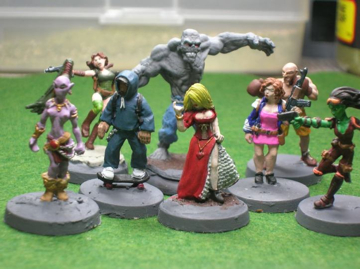 Group shot of the 8 figures finished today.