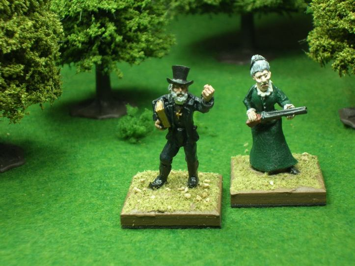 The good Reverend Maplethorpe and wife. Figures by Old Glory