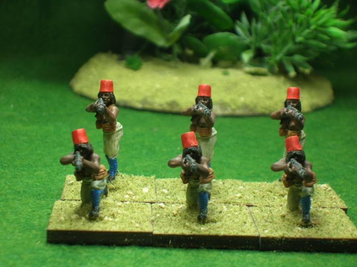Askari firing line.