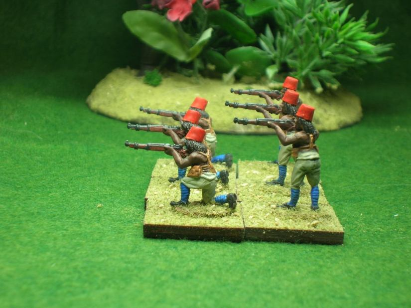 """At 100 yards, volley fire. Present! Fire!"""