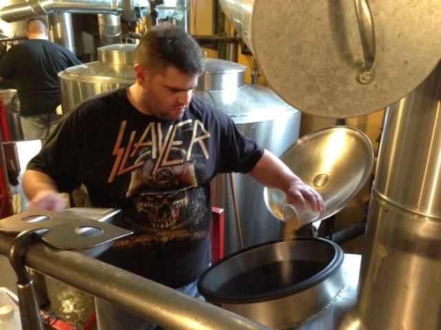 Nathan as Brewmeister For a Day at a brewery in New Hampshire