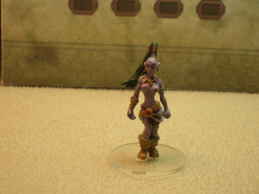 "A Kabasu, ""rift walker"" (actually a female alien from Bronze Age Miniatures)"