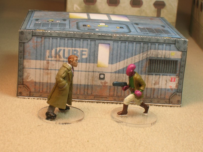 The IKube paper buildings are kind of on the small side for 28mm, but they will make great shanty town shacks.