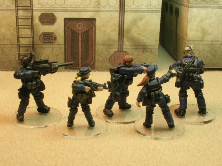 SWAT Team Alpha reverse side