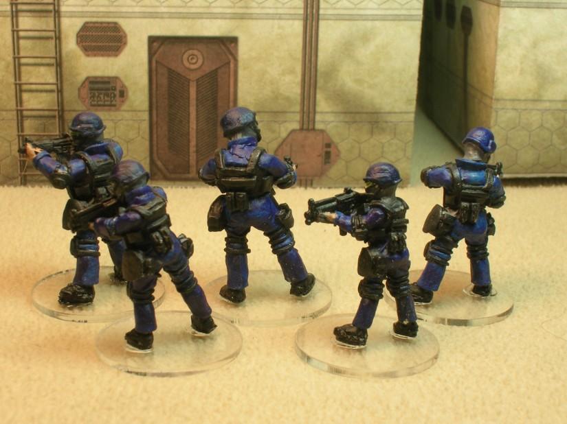 SWAT Team Takedown reverse side