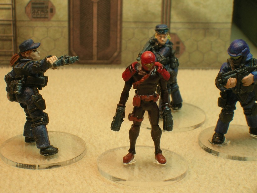 The Gunfighter with Foundry figures for reference