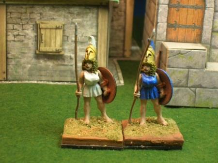 Amazons wearing the chitoniskos