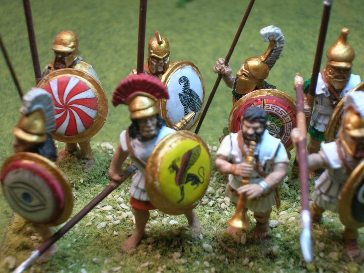 Tegean Strategos - figures by Black Tree Design & Victrix