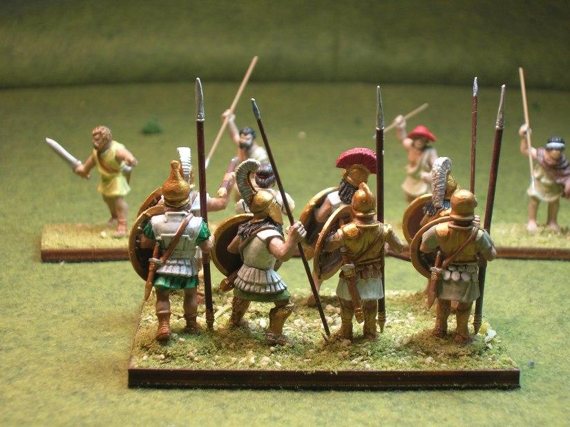 Hoplites under attack from skirmishers