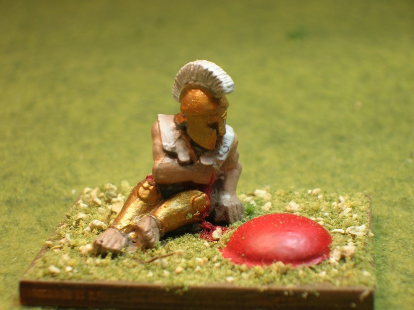 Casualty figure from Sgt. Major Miniatures
