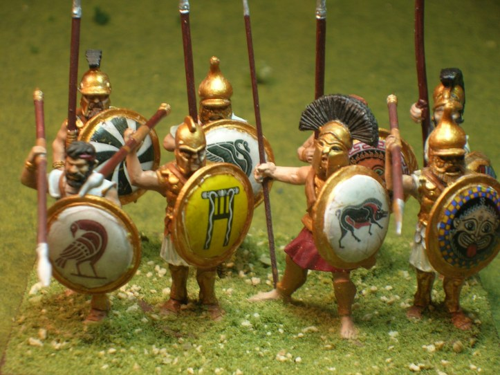 Tegean Hoplites - figures by Victrix, Black Tree Design & Essex
