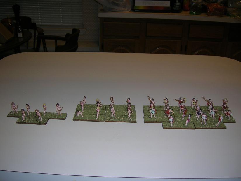 40 finished figures - 20 units of skirmishers.