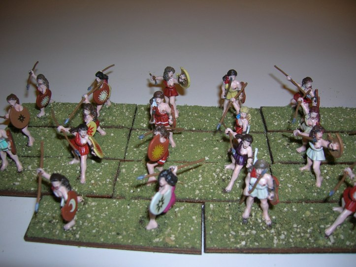 11 units of peltasts or javelin armed skirmishers