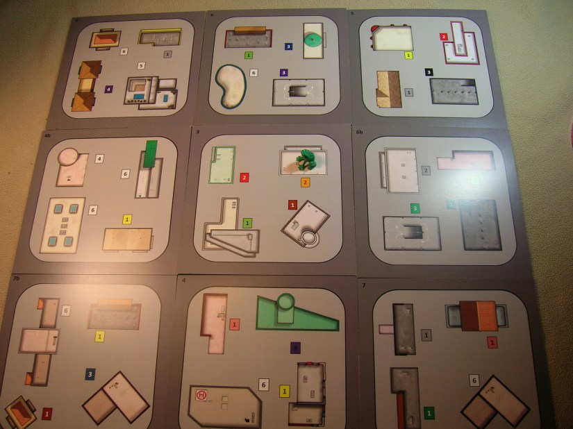 City tile layout for the game.