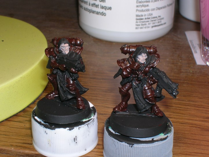 Sisters of Battle with Reaper Brick Red shadow or under color